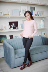 B.Young Nona Spotted Pullover in Warm Rose