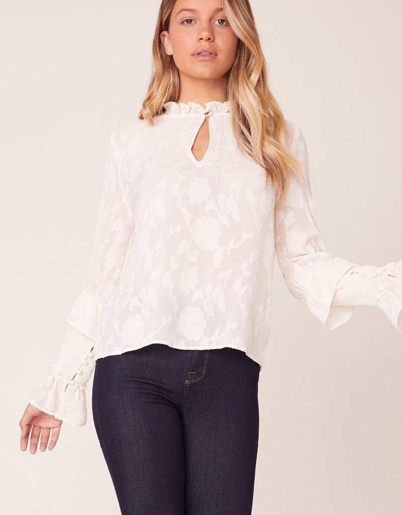 BB Dakota I Heart Drama Floral Jacquard Top