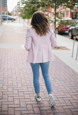 Madison the Label Kendra Blazer - Pink with Gold Buttons