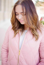 Part Two Olilas Quilted Jacket in Rose