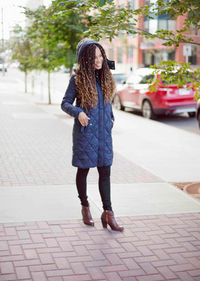 Part Two Sandra Quilted Jacket with Hood