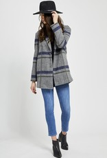 Gentle Fawn Desmond Coat in Grey Plaid