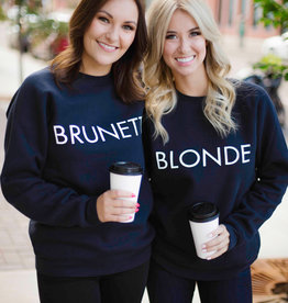 Brunette the Label BTL - Blonde Sweatshirt in Navy