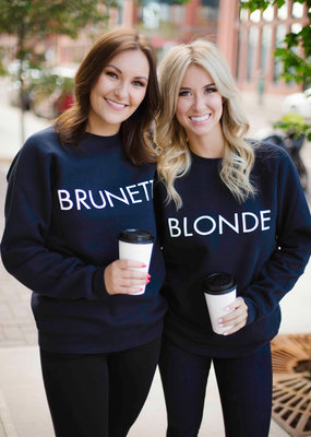 Brunette the Label BTL - Blonde Sweatshirt in Navy