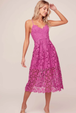 ASTR Kenna Floral Lace Midi Dress