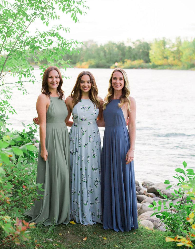 Skylar Belle Payton Maxi Dress - Dusty (Light) Blue