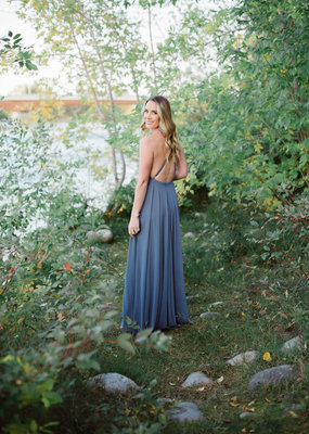 Skylar Belle Payton Maxi Dress - Dusty Blue