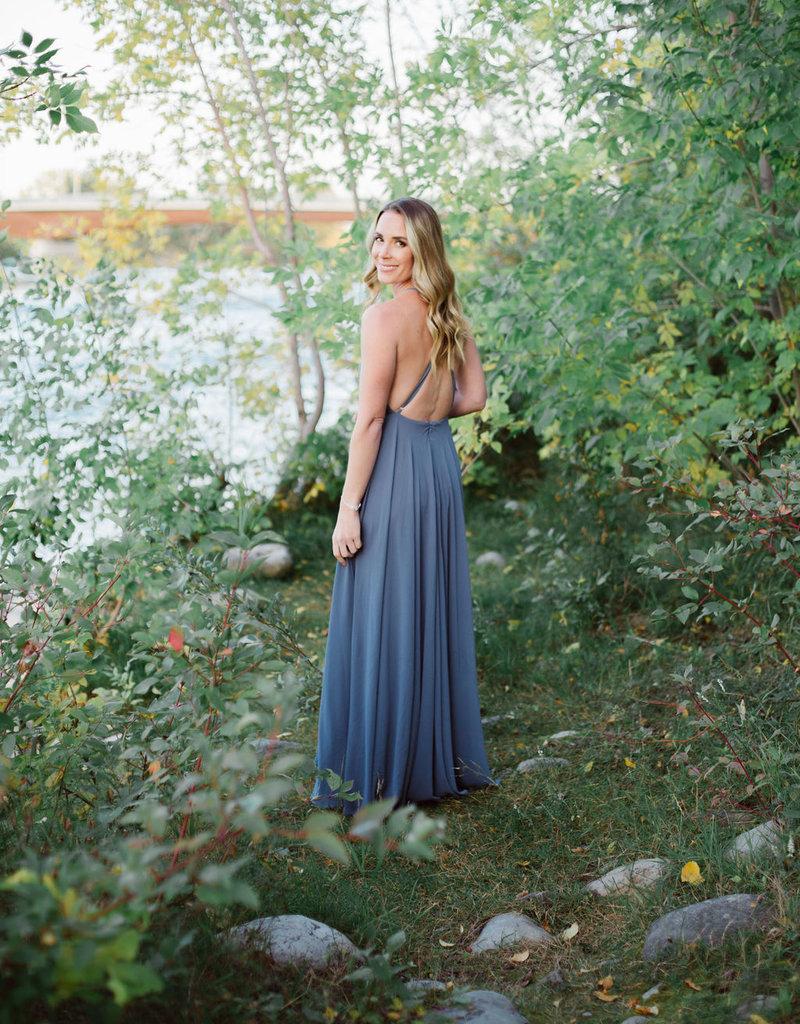 Skylar Belle Payton Maxi Dress - Dusty Blue
