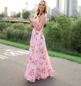 Skylar Belle Payton Maxi Dress - Pink Floral