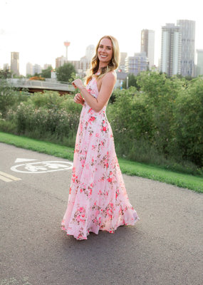 Space46 Payton Maxi Dress - Pink Floral