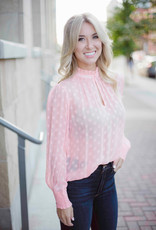 Part Two Penny Pink Polka Dot Blouse