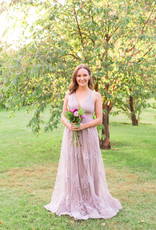 Luxxel Halle Maxi Dress with Flower Detail *More Colours*
