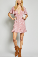 Sage the Label Desert Dust Mini Dress in Rose