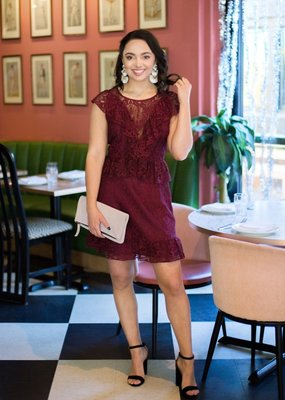 BB Dakota Shaken Not Stirred Lace Dress