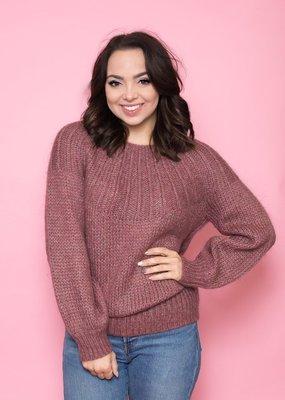 Noa Noa Burgundy Pullover Sweater