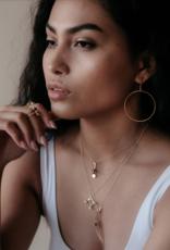 Sarah Mulder Crescent Moon Necklace - Onyx