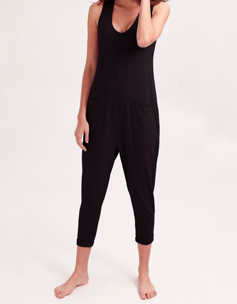Smash + Tess Smash + Tess - Saturday Romper in Black and Jillian Grey