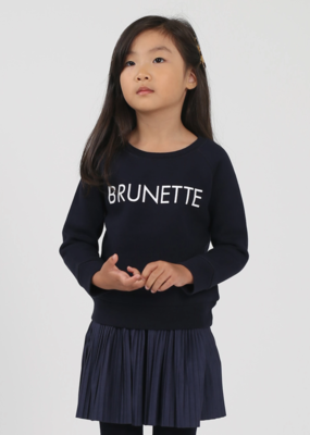 "Brunette the Label BTL - ""Little Babes"" Brunette Sweatshirt in Navy"