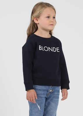 "Brunette the Label BTL - ""Little Babes"" Blonde Sweatshirt in Navy"