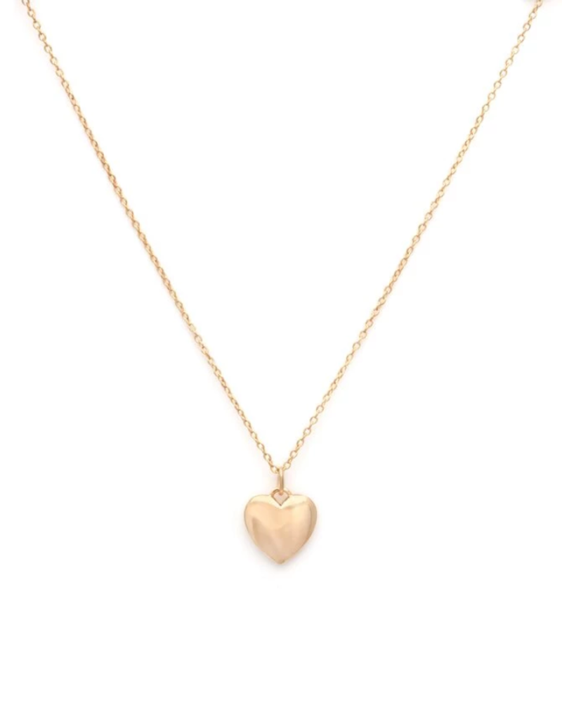 Melanie Auld Full Heart Necklace - Gold