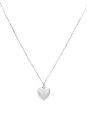 Melanie Auld Melanie Auld - Full Heart Necklace in Silver