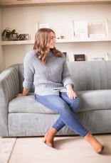 Part Two Tenley Sweater in Steel Blue