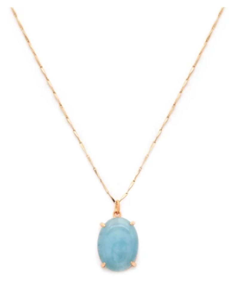 Melanie Auld Melanie Auld Amulet Necklace - Aquamarine