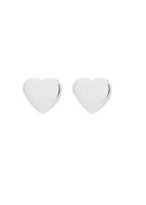 Melanie Auld Melanie Auld - Modern Heart Stud Earring in Silver