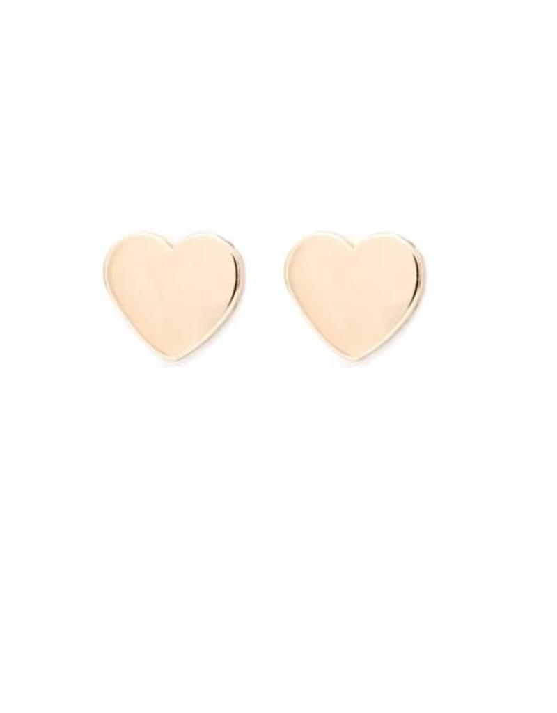 Melanie Auld Melanie Auld Modern Heart Stud Earring - Gold