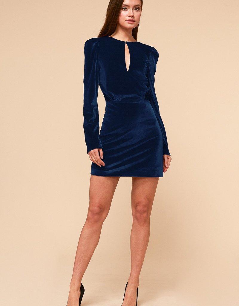 Adelyn Rae Stella Dress in Navy Velvet