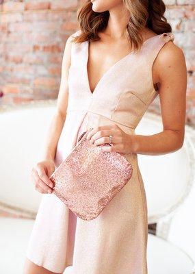 Minuet Zoey Shimmer Shoulder Tie Dress