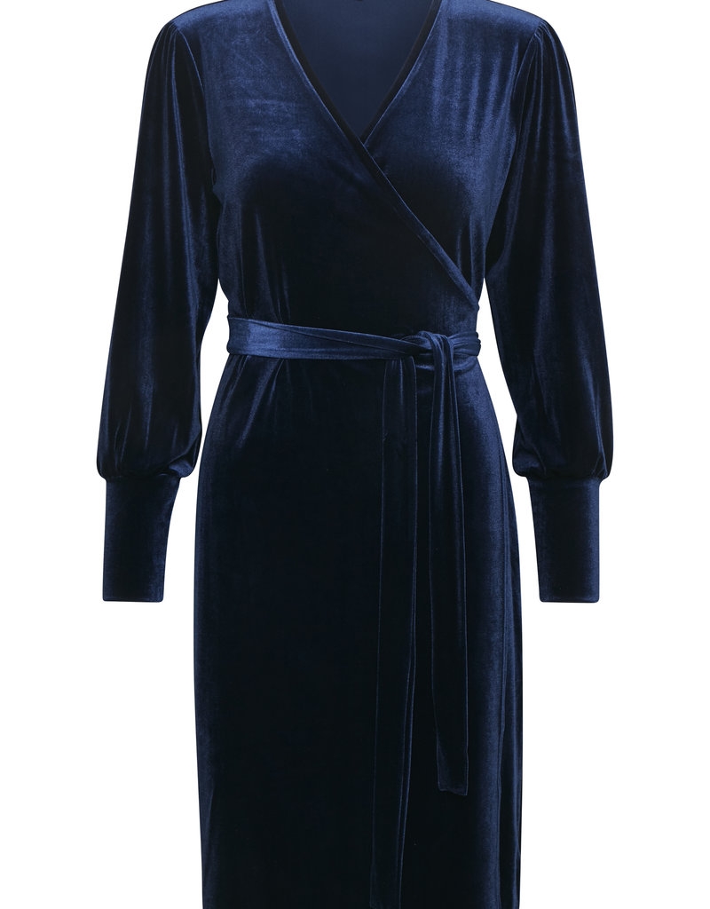Part Two Velvet Wrap Dress