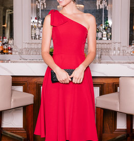 Gal Meets Glam Gal Meets Glam - Yvonne One Shoulder Bow Dress