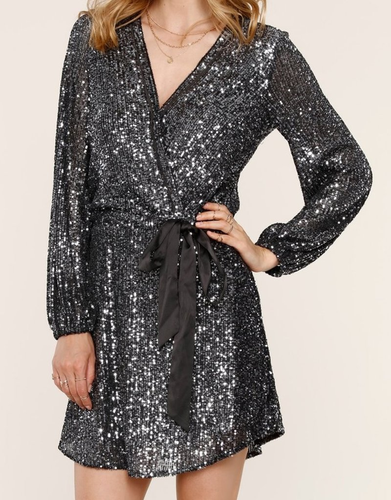 Heartloom Dani Sequin Dress in Black