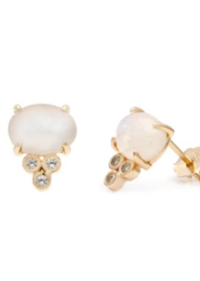 Melanie Auld Melanie Auld - Devi Stud Earring - Gold & Moonstone