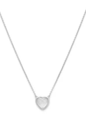 Melanie Auld Melanie Auld - Stone Heart Necklace in Silver