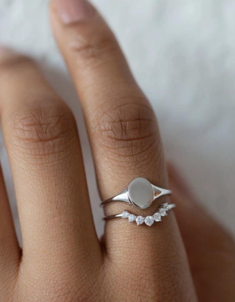 Melanie Auld Arc Ring - Silver
