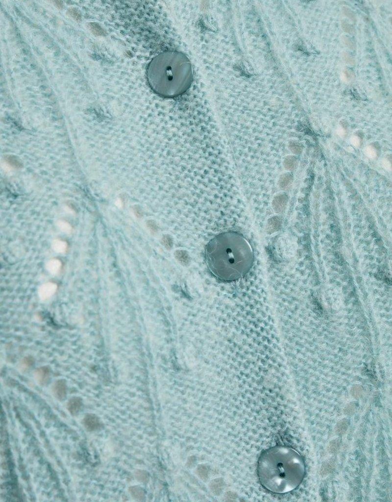 Part Two Osha Knit Cardi with Pompom Detailing