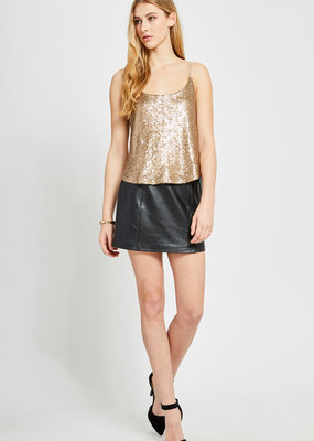 Gentle Fawn Tahliah Gold Sequin Top