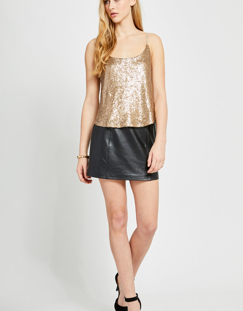 Gentle Fawn Tahliah Sequin Top in Antique Gold
