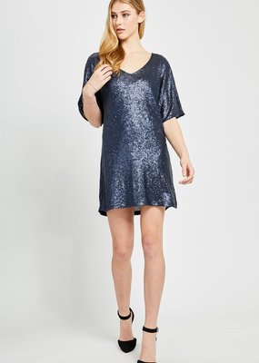 Gentle Fawn Lola Gold Sequin Dress *Two Colours*