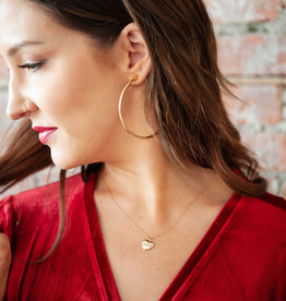 Melanie Auld Melanie Auld - Full Heart Necklace in Gold