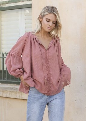 Lost in Lunar Cove Blouse