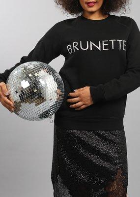 Brunette the Label Brunette the Label - Brunette Silver Glitter Crew