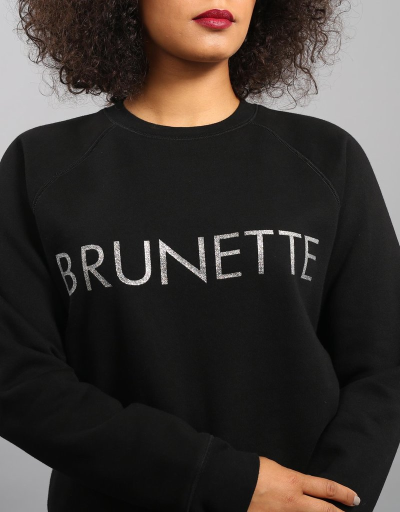 Brunette the Label Silver Glitter Crew - Brunette