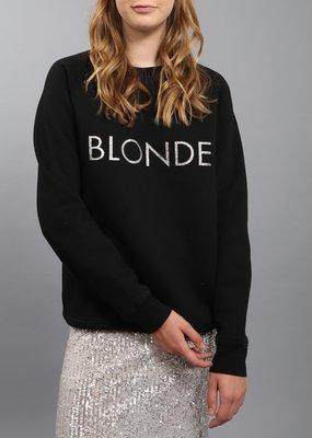 Brunette the Label BTL - Silver Glitter Crew - Blonde