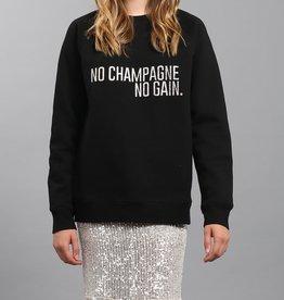 Brunette the Label BTL - No Champagne Silver Glitter Crew