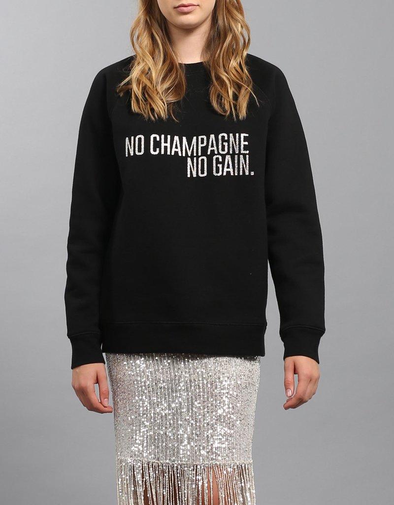 Brunette the Label No Champagne Silver Glitter Crew