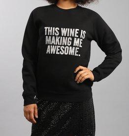 Brunette the Label BTL - This Wine Silver Glitter Crew