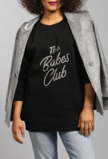 Brunette the Label Babes Club Silver Glitter Big Sister